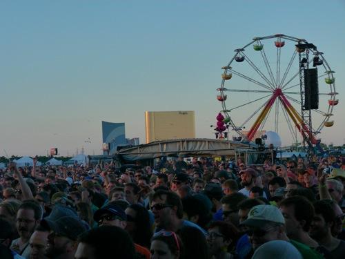 Phish performing in 2020 in Atlantic City, New Jersey (Shaun R. Smith).