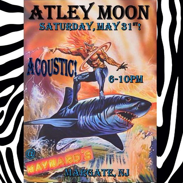 Atley Moon will perform an acoustic set 6-10 p.m. Friday, May 31 at Maynard's Cafe in Margate.
