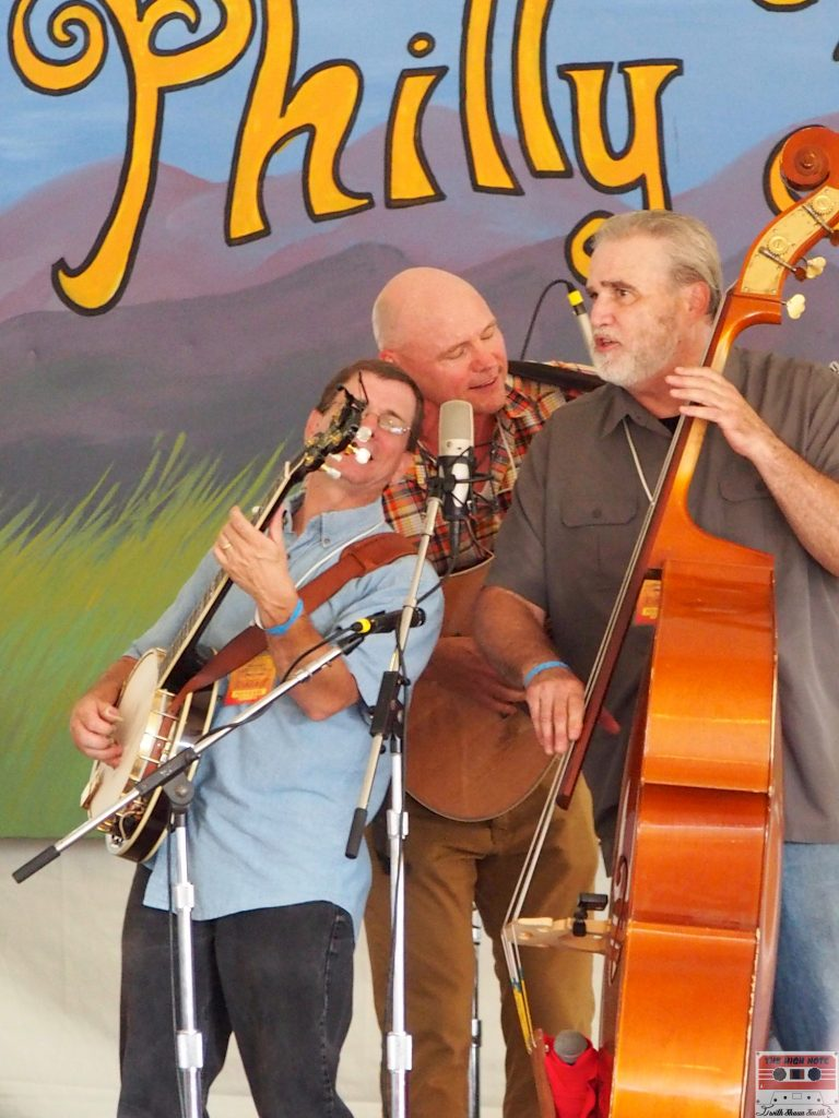 The Jersey Corn Pickers jam on the Lobby Tent Stage.