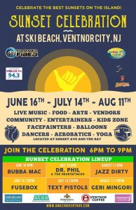 Sunset Celebration - Dr. Phil and the Heart Attacks and Text Pistols @ Ski Beach | Ventnor City | New Jersey | United States