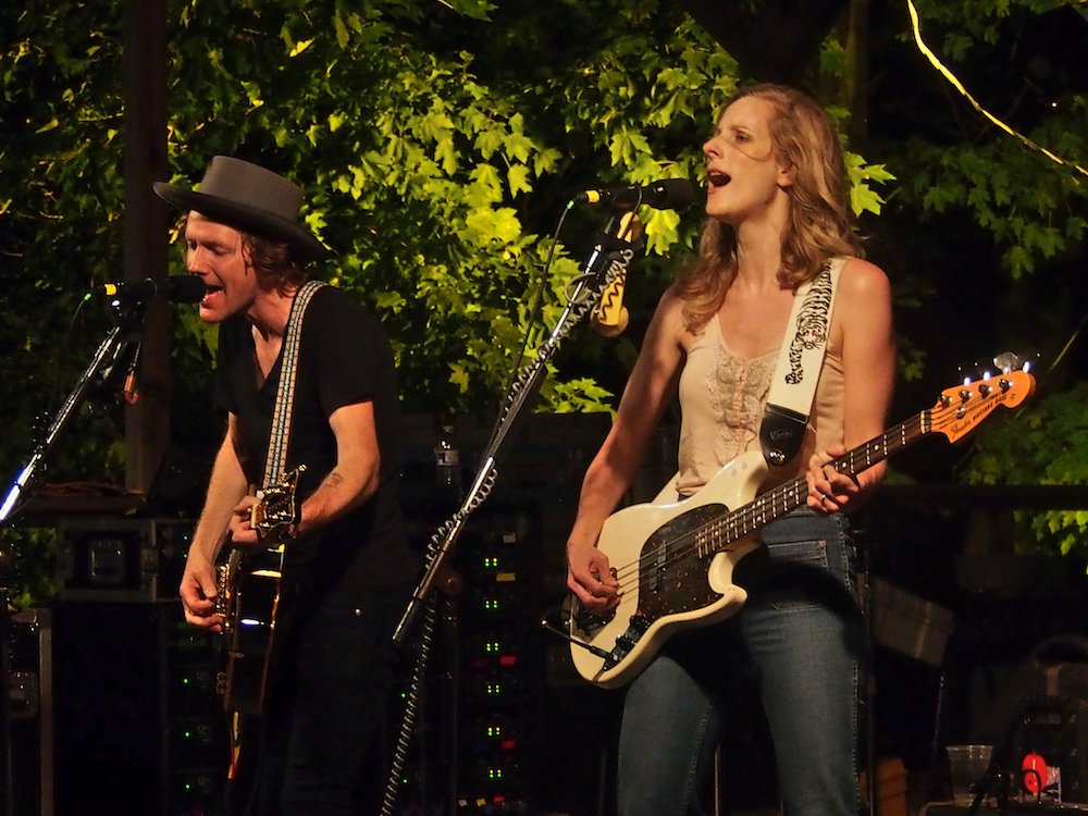 Whitehorse performs on the Camp State Thursday night at the 56th annual Philadelphia Folk Festival (The High Note/ Shaun R. Smith).