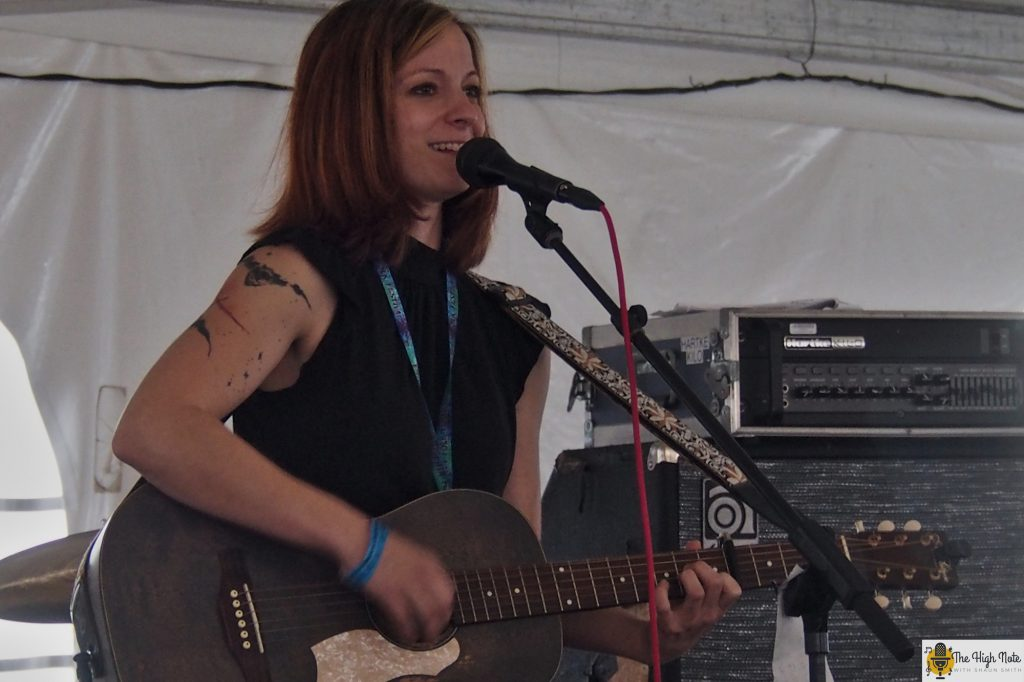 Renee Wahl performs at the 57th annual Philadelphia Folk Festival.