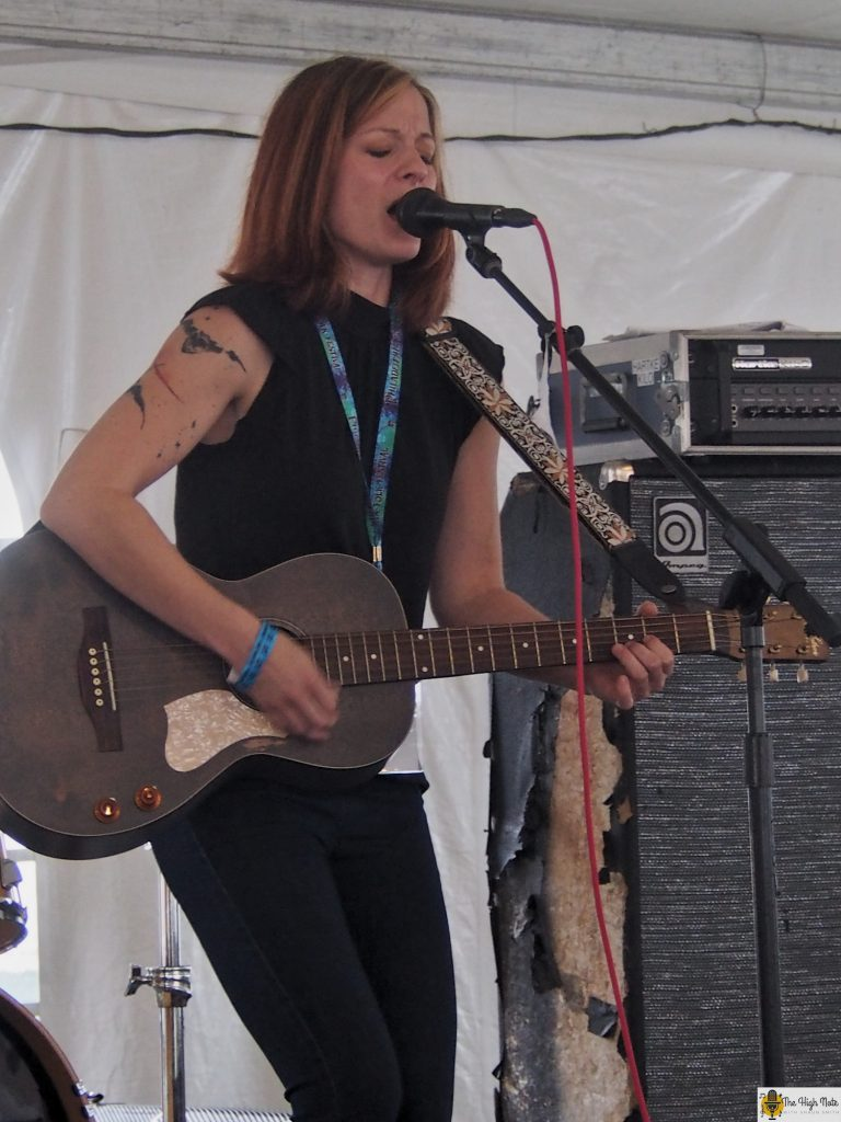Renee Wahl performs in the Culture Tent at the 57th annual Philadelphia Folk Festival.