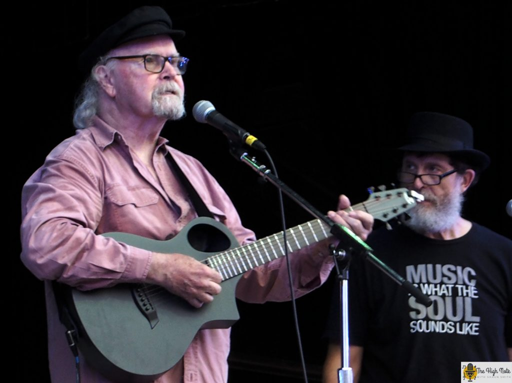 Tom Paxton performs at the 57th annual Philadelphia Folk Festival.