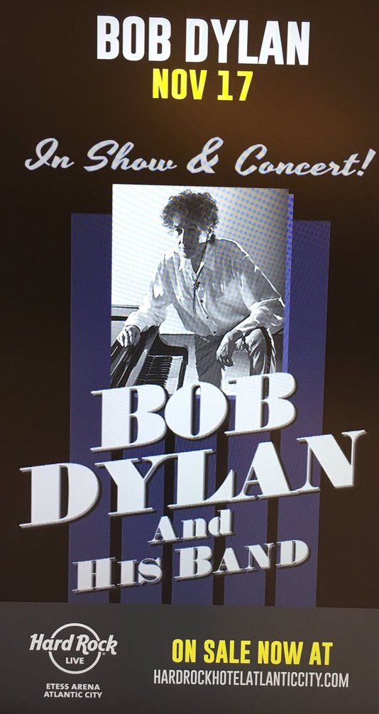 Bob Dylan at Hard Rock Atlantic City