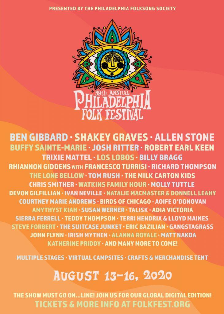 2020 Philadelphia Folk Festival poster