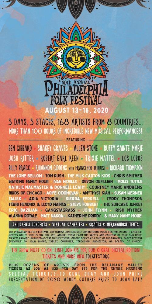 59th annual Philadelphia Folk Festival lineup