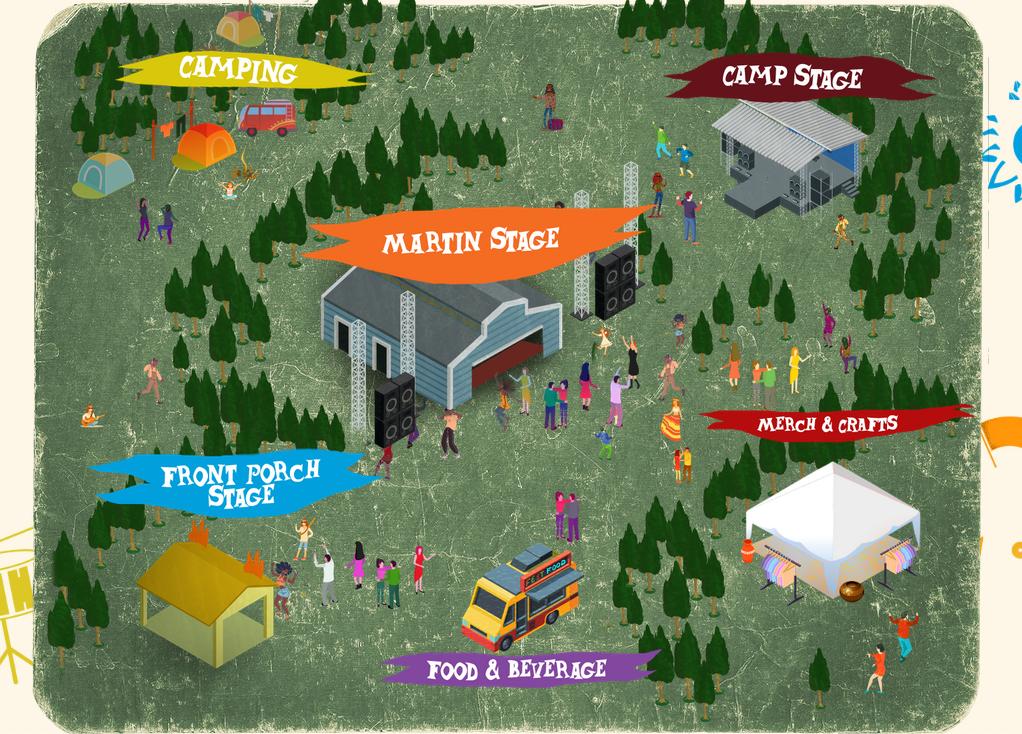 59th annual Philadelphia Folk Festival online map