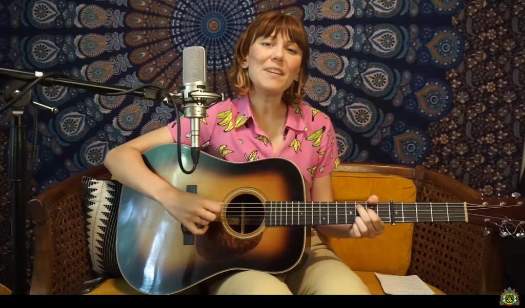 Molly Tuttle performs during the 59th annual Philadelphia Folk Festival.