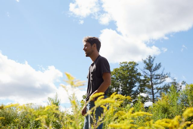 Robin Pecknold, frontman and songwriter for Fleet Foxes, photo by Emily Johnston
