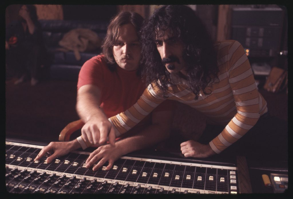 Kerry McNabb and Frank Zappa in ZAPPA, a Magnolia Pictures release. Photo credit: Yoram Kahana. Photo courtesy of Magnolia Pictures.