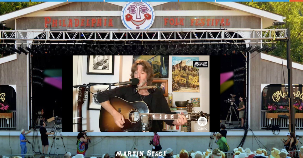 John Flynn performs at the 59 and a half Philadelphia Folk Festival (Shaun R. Smith/The High Note).