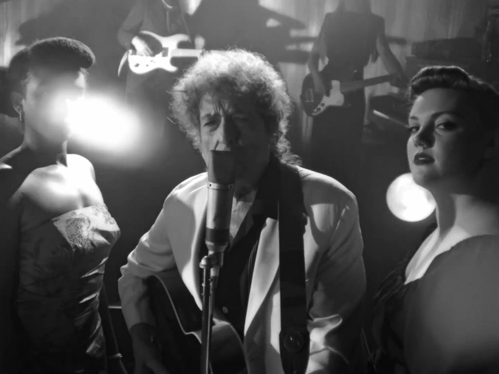 Bob Dylan perform during 'Shadow Kingdom' - screenshot by Shaun Smith for The High Note review.